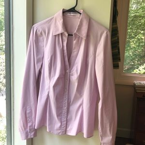 Orchid pink Tahari button down